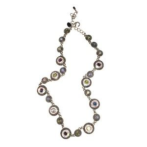 Lia Sophia Rhinestone Disc Statement Necklace